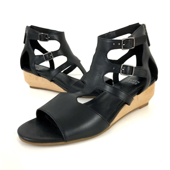 0853ad011e99 Eileen Fisher Shoes - Eileen Fisher Strappy Gladiator Wedge Sandals 7.5